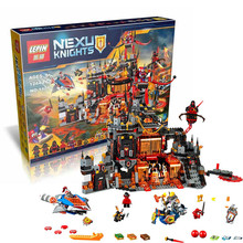 2016 New LEPIN 14019 1244Pcs Nexoe Knights Jestros Vulkanfestung Model Building Kit Minifigure font b Blocks