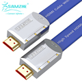 SAMZHE 3D 2K*4K HDMI2.0 Cable Flat HDMI2.0 Cable Male to Male HDMI2.0 Cable 18Gbps Speed HDMI 2.0 Video Cable for HDTV PS3/4