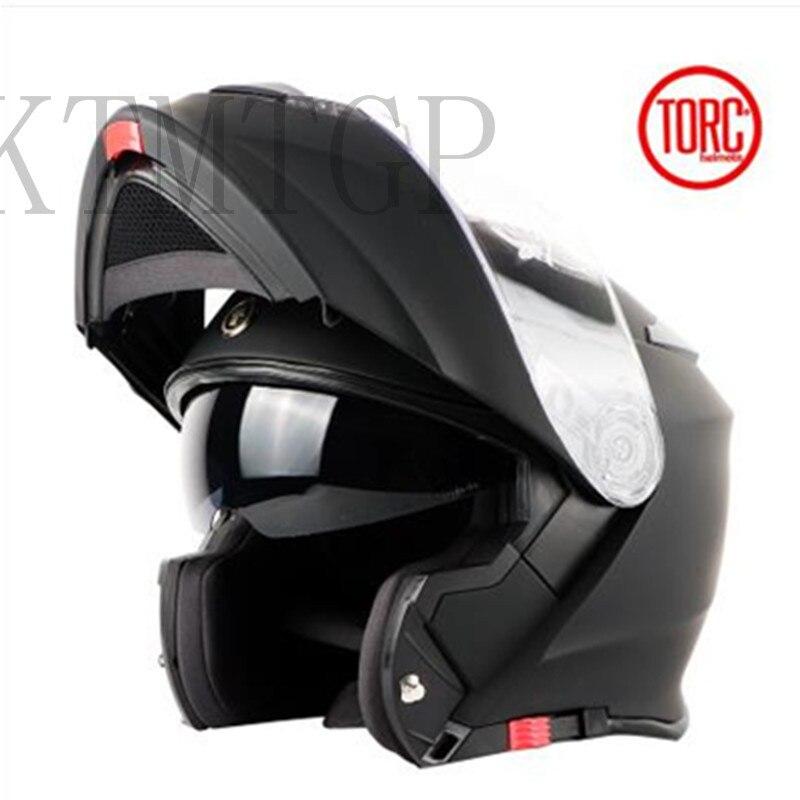 TORC moto rcycle casque FLIP UP casque moto rbike moto rcross casque intégral capacete cascos para moto ECE T271 racing casque