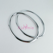 Headlight Lamp CoverOverlay Trim 2011 2012 2013 2014 Chrome Car Styling For Nissan Juke Accessories недорого