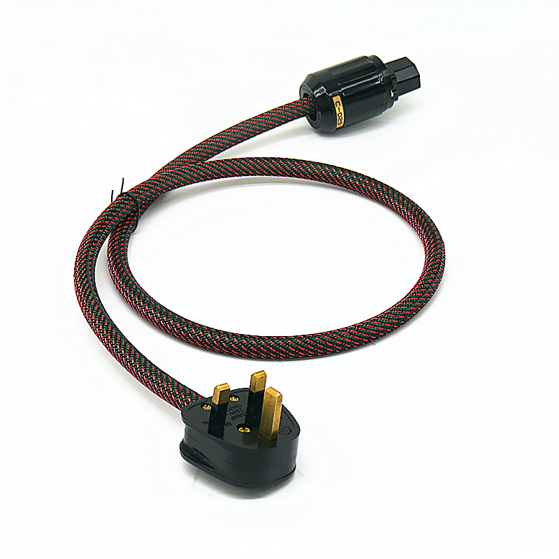 Hi-End Hifi Audio Power Cord with UK Plug Line Filter Cable hifi audio amp cable AC line