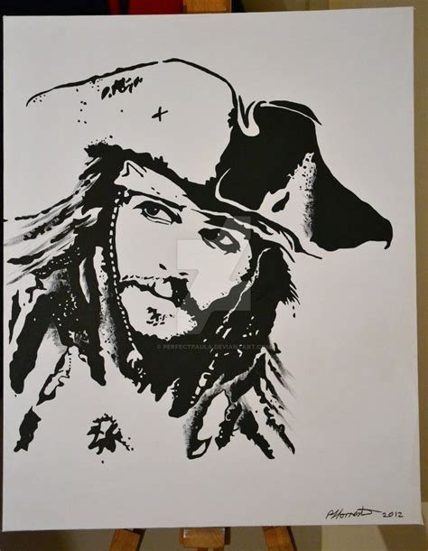 johnny depp stencil by hand painted pop art superman on canvas