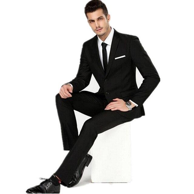 Business Single Man Black Wedding Wear Men's Best Groom Formal Suit The Breasted 0qwwS6g