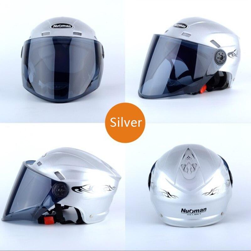 2018 новый шлем мотоциклетный шлем полный шлем безопасности Регулируемый Размер 28,5 см * 23,5 см * 19,0 см Серебряный