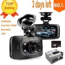 100% Original GS8000L Novatek 2.7″ 140 25fps HD 1080P Car DVR Vehicle Camera Video Recorder Dash Cam G-sensor DVR Night Vision