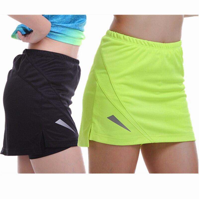 2019 Sports Tennis Yoga Skorts Fitness Short Skirt Badminton Breathable Quick Drying Women Sport Ping Pong Table Tennis Skirts
