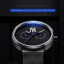MLB   vogue out of doors watches chrome steel couple watch with calendar and week  show waterproof lover's  wristwatches