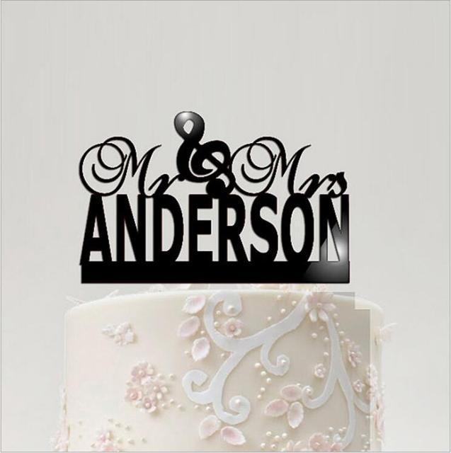 Custom Wedding Cake Toppers, Mr & Mrs Wedding Cake Topper ...