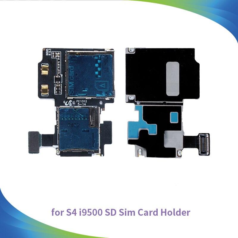 10 шт. Высокое качество для Samsung Galaxy S4 i9500 i9505 Micro SD sim-карты лоток Слот держатель читатель <font><b>Flex</b></font> Кабели телефон запчасти