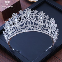 CC big tiaras and crowns hairbands elegant forest baroque pageant engagement wedding hair accessories for bride jewelry XY213
