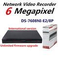 Versão internacional HiK NVR DS-7608NI-E2/8 P 8CH para Câmera IP HD 5 MP Resolução de Gravação 8 Independent POE 2 SATA