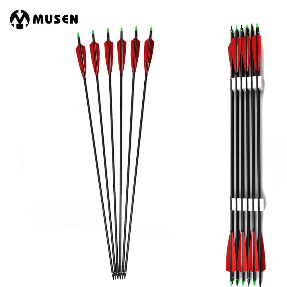 Bulk Carbon Hunting Target Arrow Set Archery Compound Recurve Long Bow 500 Spine