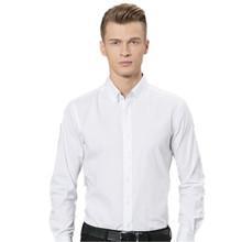 Handsome men's shirt fashion style white wedding the groom's best man shirt high quality custom single-breasted suit shirt