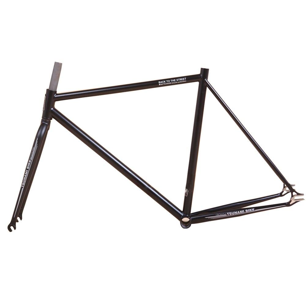 Цунами 4130 хром молибденовой стали восстановление позолота дорожный мотоцикл 700C рама фиксируется Шестерни рамы велосипеда 54 см