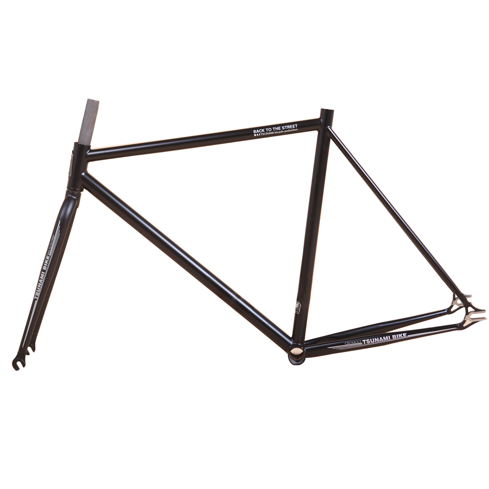 TSUNAMI  4130 Chrome molybdenum steel restoring Gold plating road bike 700C frame Fixed Gear Bike frame 54cm