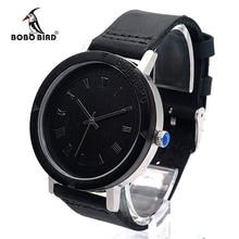 2017 bobo bird de luxe marque montre hommes bracelet en cuir bois montres mode quartz montres relogio masculino c-k05