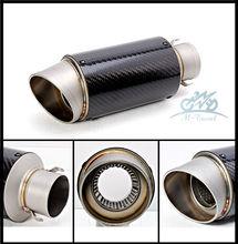 М-Путешествия Универсальный 36-51 мм Мотоциклов выхлопных Изменение Скутер Выхлопных Муфельные R6 FZ6 R1 R3 Z1000 GSXR600 z800 zx6r zx10r