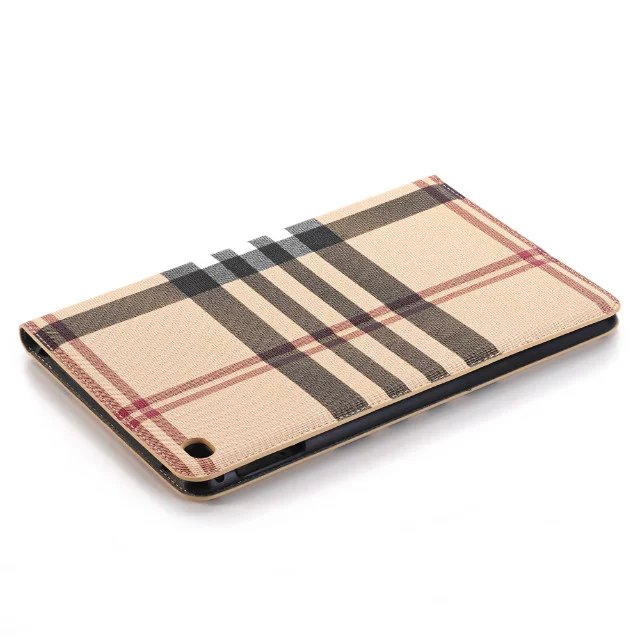 Fashion Stripe Grain Book Cover Card Holder Folio Stand PU Leather Magnet Smart Sleep Case For Apple Ipad Pro 12.9 inch Tablet