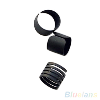 3Pcs * 5 New Fashion Ring Set Black Stack Plain Above Knuckle Ring Band Midi Rings image