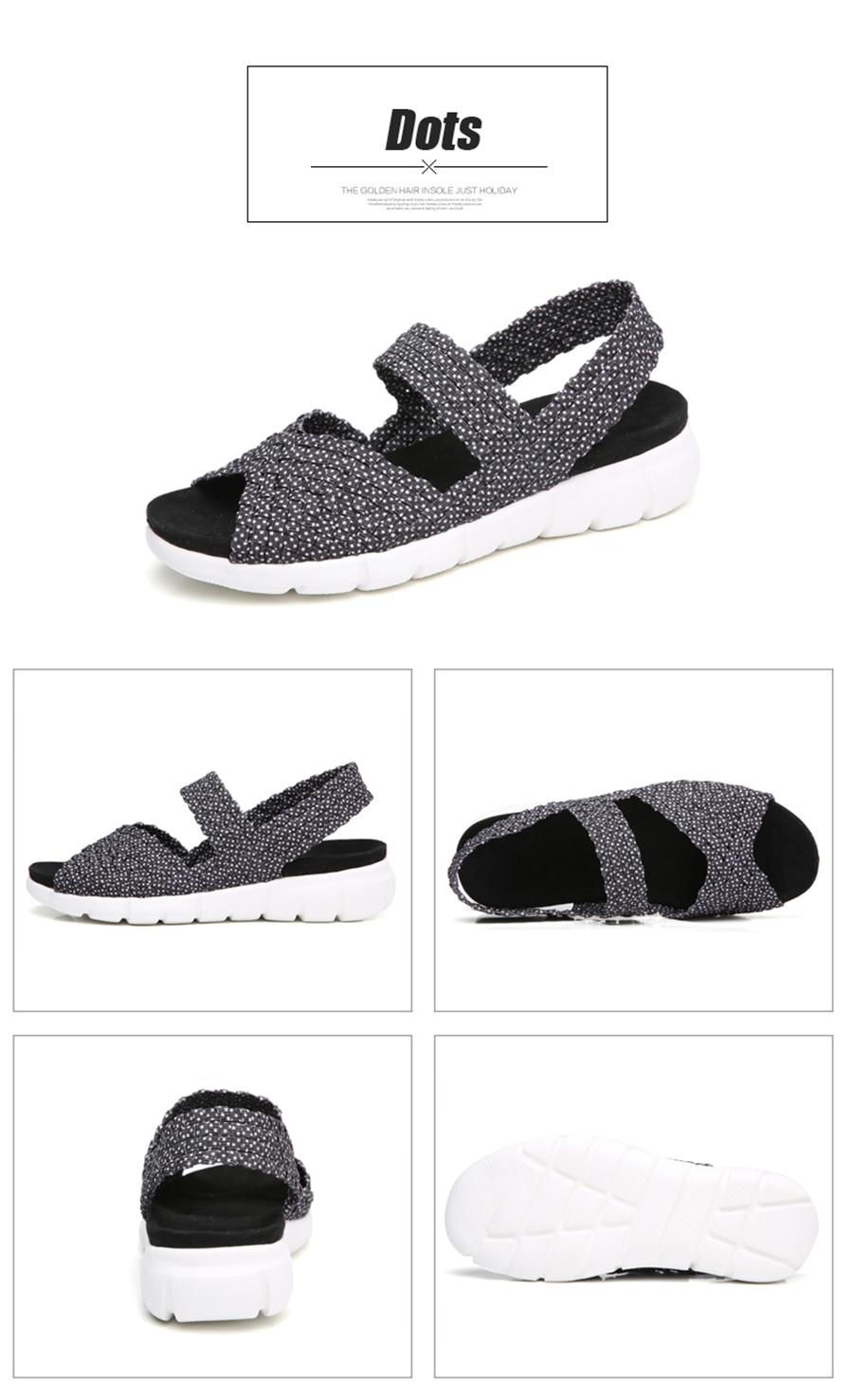 HTB1rKVluZyYBuNkSnfoq6AWgVXa6 STQ 2019 women flat sandals shoes women woven wedge sandals ladies beach summer slingback sandals flipflops jelly shoes 803