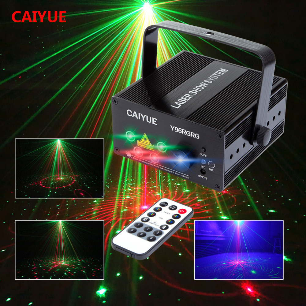 LED Laser Stage Lighting Effect 96 Patterns RG Mini Laser Projector 3W Blue LED Light Effect Show For DJ Disco Party Lights mini rgb led stage light 3w remote controls light disco ball lights led party lamp show stage lighting effect usb powered dv 5v