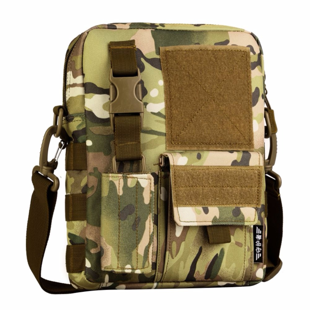 Outdoor 10 Inches Nylon Waterproof Shoulder Bag Cross Body Bag Belt Sling Messenger Bags Tactical Military Camouflage Handbag Warm And Windproof Climbing Bags