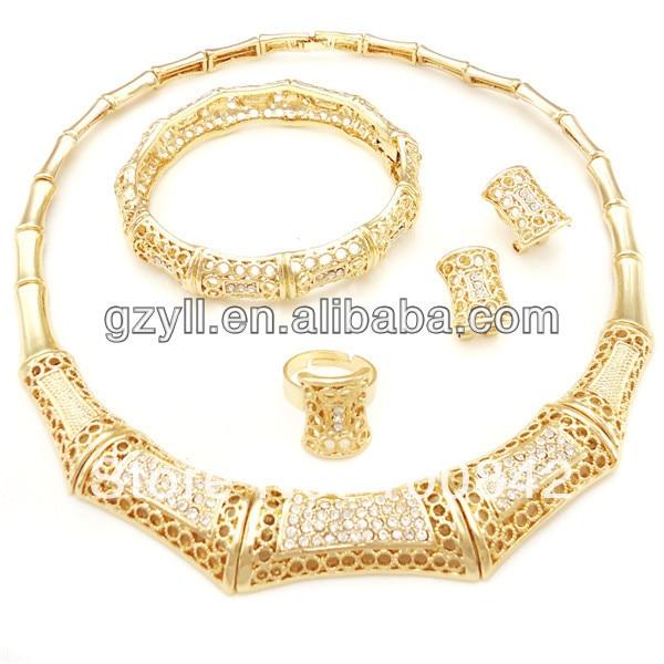 Wholesale unique design italian gold jewelry sets in Bridal Jewelry