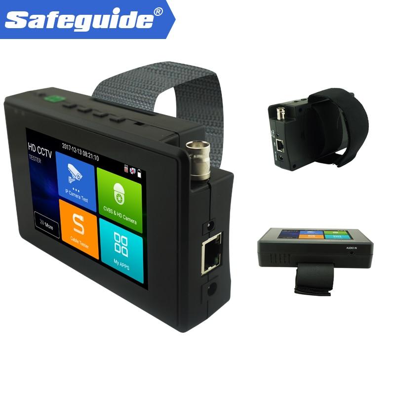 Многоцелевой 4 дюймов ручной IP аналогового видеонаблюдения Камера тестер 4 К H.265 основной декодирования быстрого ONVIF, автоматический просмо