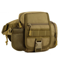 Men Waterproof 1000D Nylon Hip Bum Belt Pack Waist Bag Travel Military Messenger Shoulder Water Bottle
