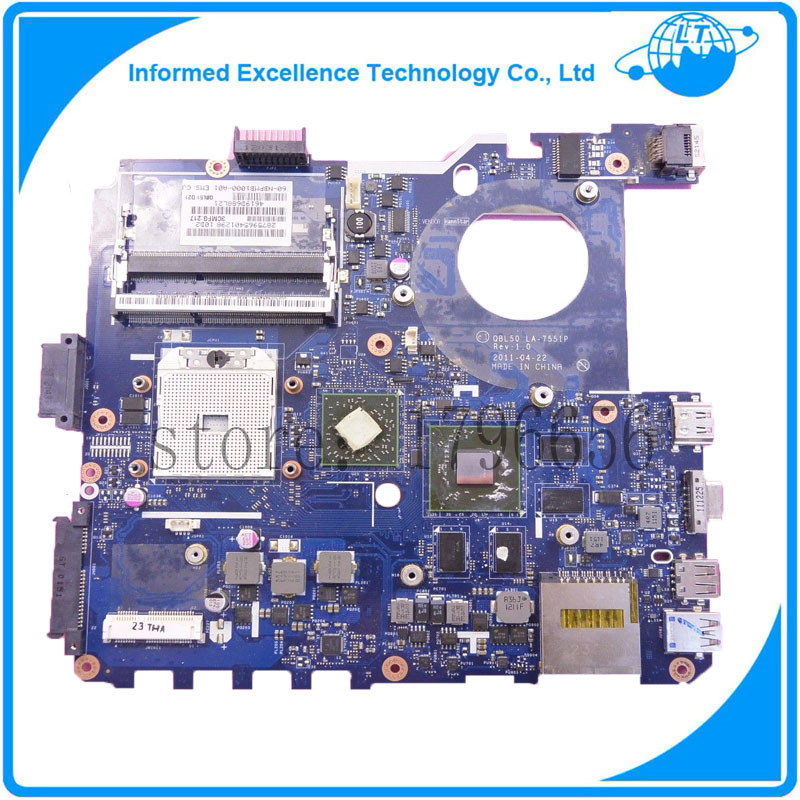 Hot selling motherboard QBL50 LA-7551P K43T laptop mainboard 100% working 595765 001 free shipping for hp la 4951p intel laptop motherboard qm57 100
