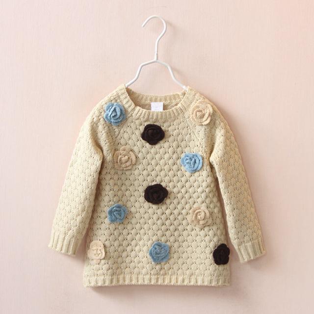2015 otoño invierno del bebé de los suéteres babi niño hizo punto el suéter de cuello alto suéter de la piel del suéter de los niños prendas de vestir exteriores