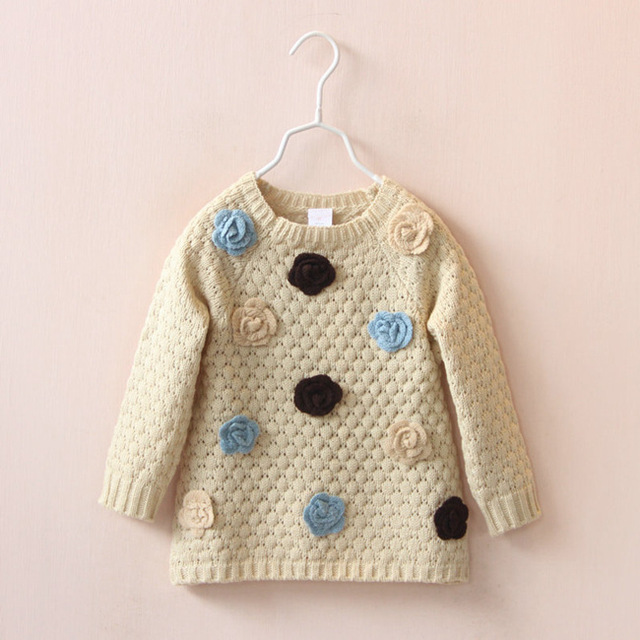 2015winter autumn baby girl's sweaters child knitted sweater babi turtleneck fur sweater children's sweater outerwear