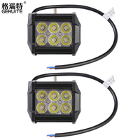 GERUITE Brand 2PCS 18W LED Work Light Bar For Indicators Motorcycle Offroad Boat Car Tractor 4x4