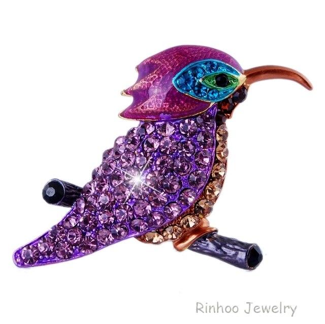 Fashion Formal Jewelry Brooch Pins Rhinestone Crystal Enamel Birds Popular Gifts women elegant brooches wedding brooch jewerly