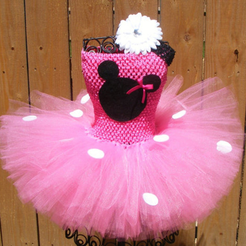 New Baby Girls Cartoon Minnie Tutu Dress For Kids Clothes Birthday Christmas Halloween Cosplay Costume Pary Fancy Tulle Dresses fancy girl mermai ariel dress pink princess tutu dress baby girl birthday party tulle dresses kids cosplay halloween costume