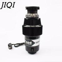 JIQI 1000 Вт двигатель мусоровоз Измельчитель 1 hp непрерывной подачи еда отходов нержавеющая сталь шлифовальные станки Air Switch