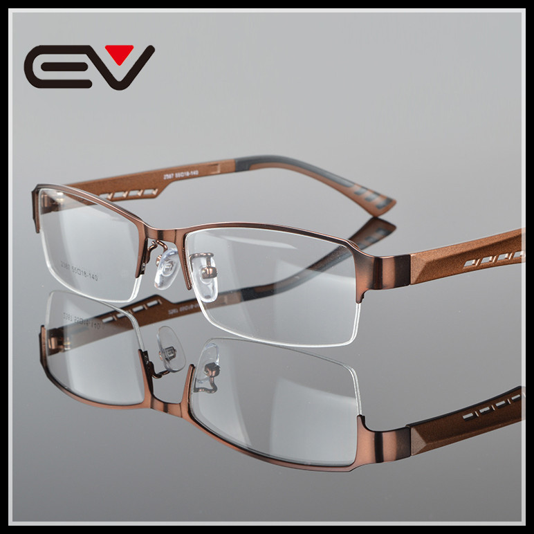 Herrglasögonramar Metall Halvkantfria glasögon Affärsglasögon - Kläder tillbehör