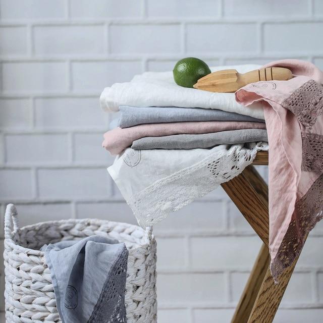Sandwash Soft 100% Pure Linen Napkins  Lace Napkin