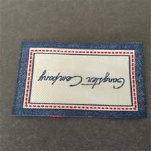 Customized Clothing Woven Label Garment labels Custom woven tags