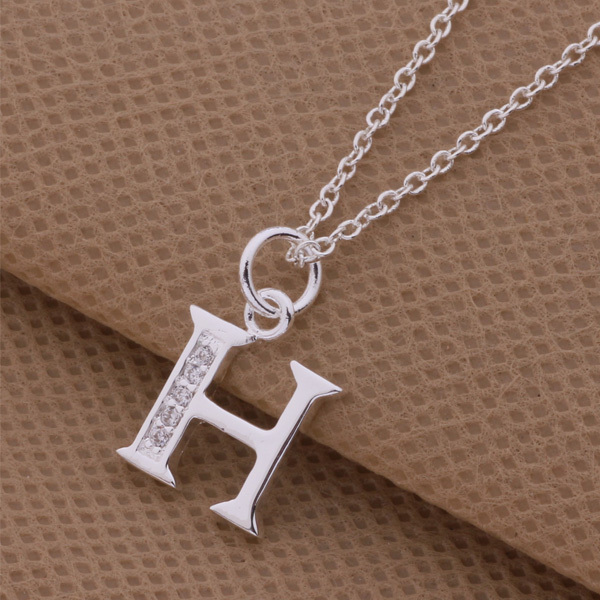 Top quality silver letter h i j pendant necklace with zircon top quality silver letter h i j pendant necklace with zircon nice valentines day gift classic charm jewelry hot in pendant necklaces from jewelry mozeypictures Image collections