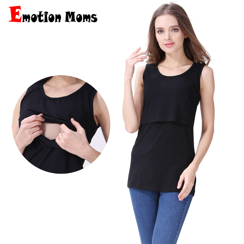 Emotion Moms Summer Maternity Clothes Nursing Tops Camis Breastfeeding Clothings for Pregnant Women Maternity Tank Tops