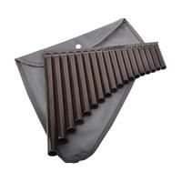 Moonembassy 18 Pipes Pan Flute Alto C 18 Tube ABS Resin Panflute for Beginner Children Music Instrument Free Shipping