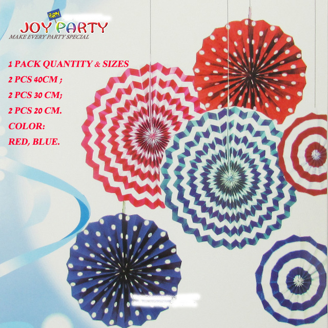 6pcs per pack hanging colored paper fan flower assortment blue red 6pcs per pack hanging colored paper fan flower assortment blue red themed garden home party mightylinksfo