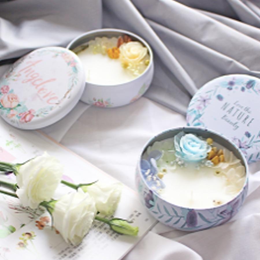 Bougies parfumées à la cire de soja bougies de décoration à la bougie en forme de fleur naturelle pour les mariages 5LZ034 - 6