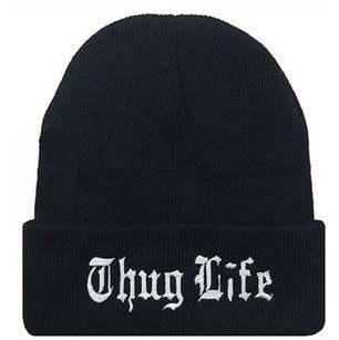 Online Shop 2017 New West Beach THUG LIFE Beanies Gangsta Tattoo Knitted  Cap Knit Hip Hop Men Women Winter Warm Wool Gorros Hats  7016cbc2f68a