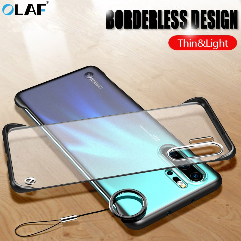 OLAF Frameless Matte Phone Case For Huawei P30 P20 Pro Transparent Cover Cases For Huawei Mate 20 Pro Honor 20 Pro Nova 5 Case