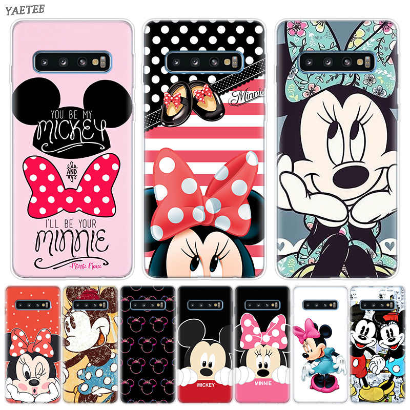 Minnie Mouse Girls Cute Bumper Case For Samsung Galaxy S10 Plus M30 A50 A30 A70 A40 A40S M20 M10 A10 A20 A60 A80 A90 A20E Cover