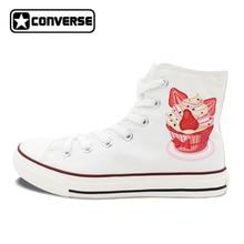 Design Cupcakes Women Shoes Converse Original Dessert Canvas Sneakers Mens Skateboarding Shoes Brand Chuck Taylor