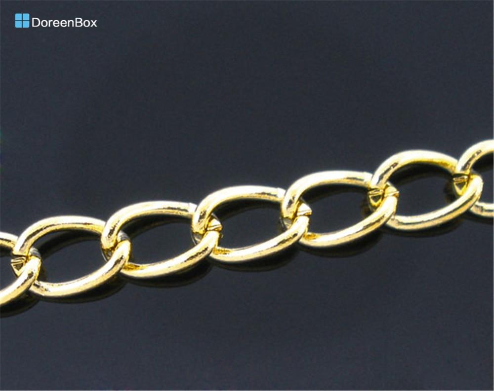 5m De Lujo Gold Tarjeta Craft Regalo Cable De Hacer Borlas-Cadena 3mm De Espesor