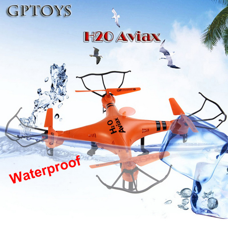 New Arrival Gptoys H2O Aviax Waterproof Drone 3D Eversion 6 Axis Gyro Headless Mode 2.4GHz 4CH LCD RC Quadcopter Toys aviax h2o waterproof drone headless mode 2 4ghz 6axis gyro quadcopter rc explorers led flashing lights support diy rtf